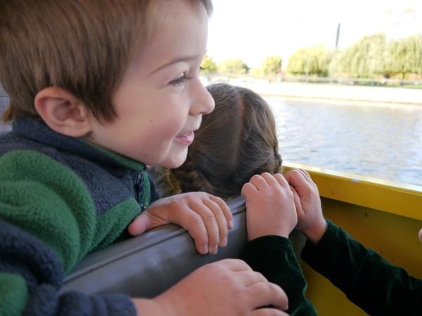 Ben on duck boat.
