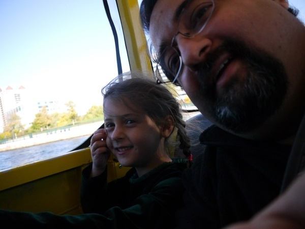 Sophie and Dom on the duck boat.