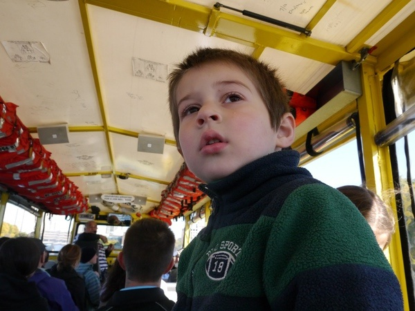 Ben on the duck boat.