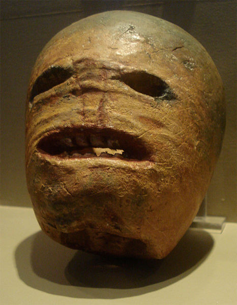 A traditional Irish turnip Jack-o'-lantern from the early 20th century. Photographed at the Museum of Country Life, Ireland. via Wikimedia Commons