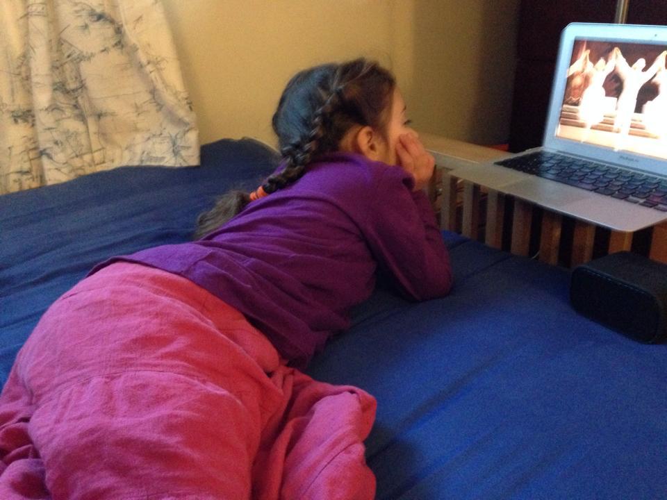Sophie watches Nutcracker