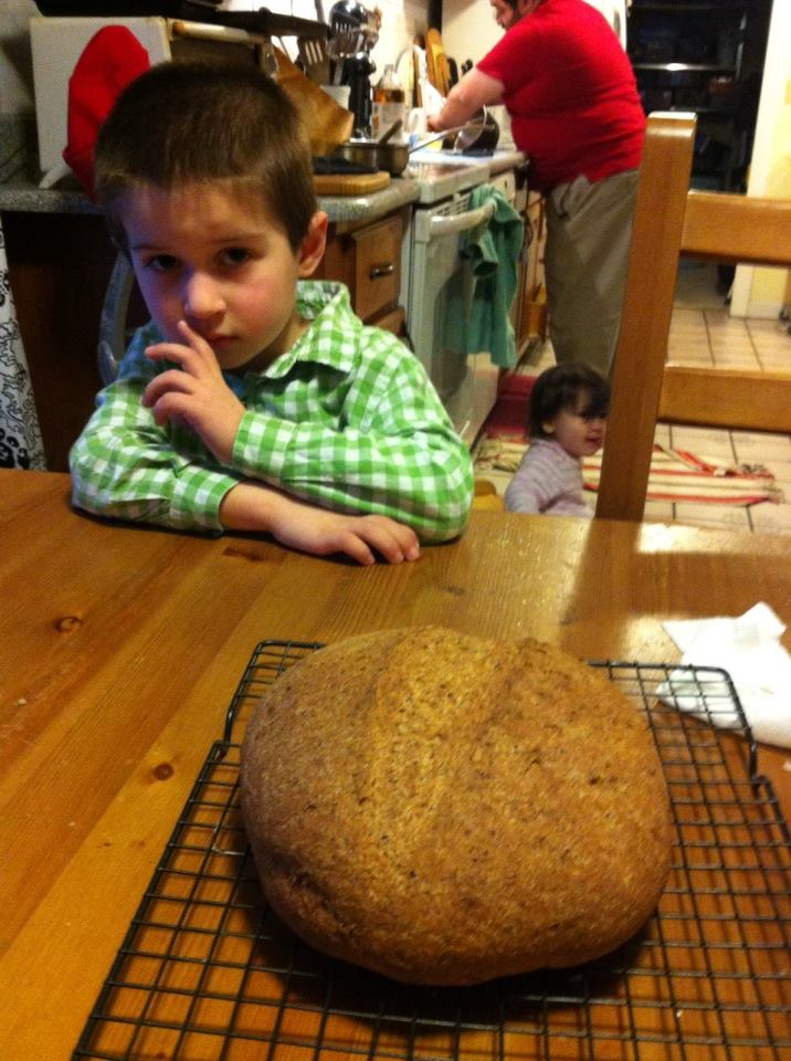 "Ben contemplates ""crusty bread"""