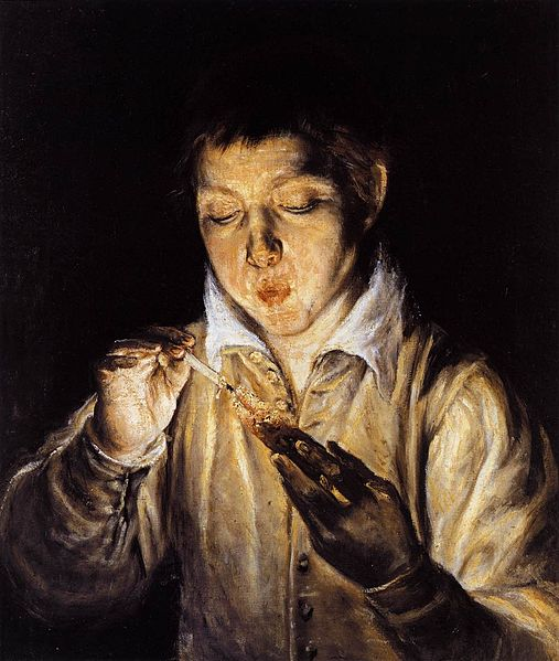 El Greco A Boy Blowing on an Ember to Light a Candle