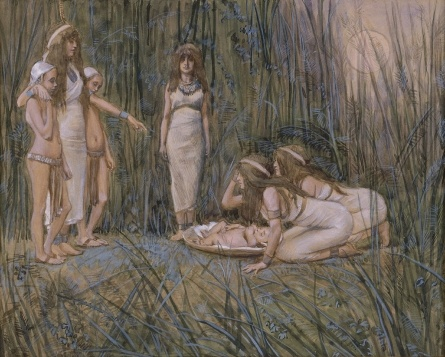 Pharaoh's Daughter Receives the Mother of Moses by James Tissot