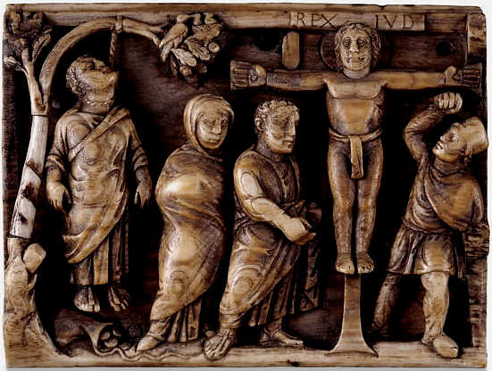 Crucifixion with hanging Judas