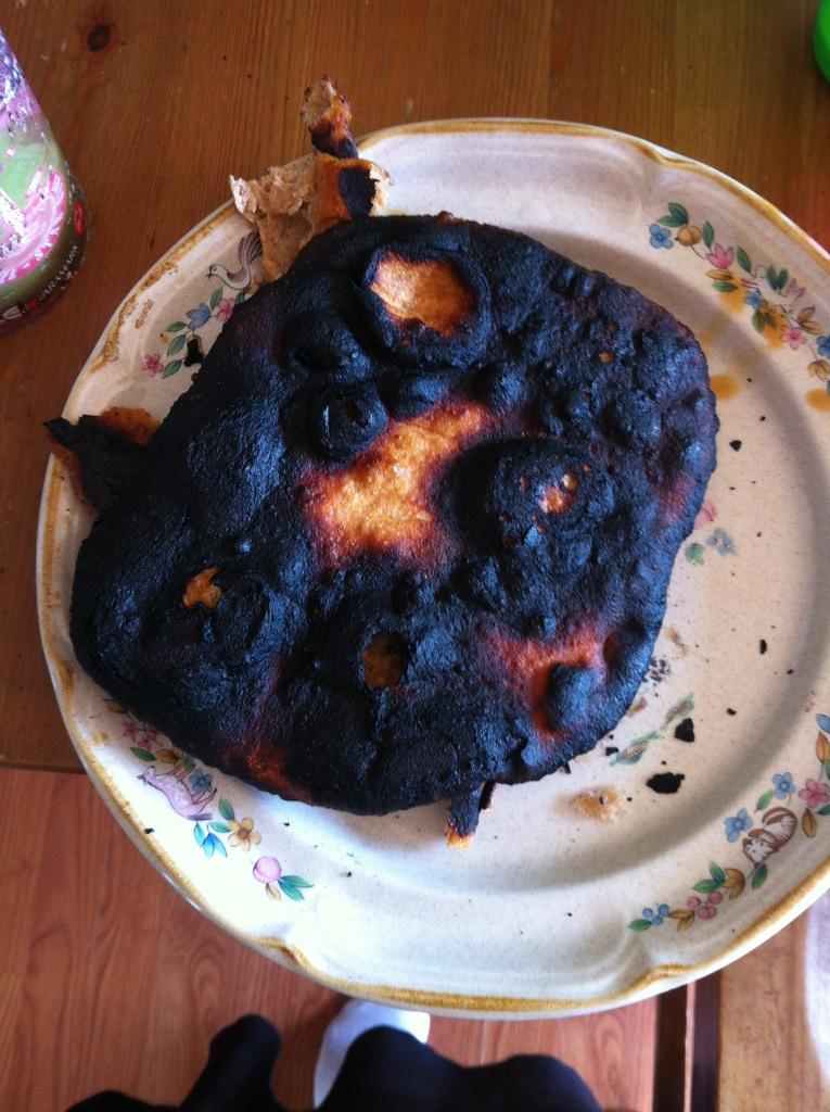 burnt naan