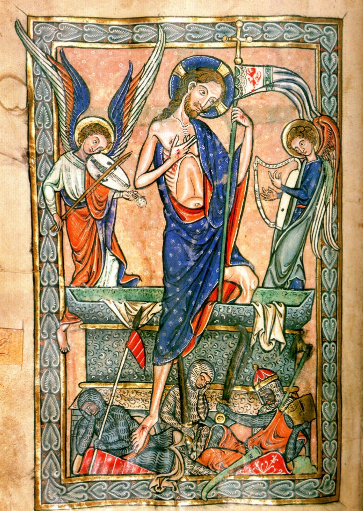 Resurrection from a 13th century missal