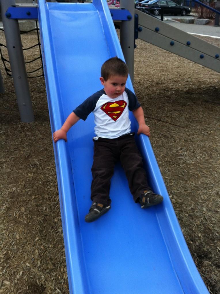 Anthony sliding.
