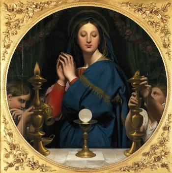 Madonna of the Eucharist ingres
