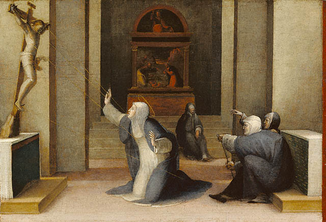 St Catherine of Siena receiving the stigmata from the Dominicans Interactive blog