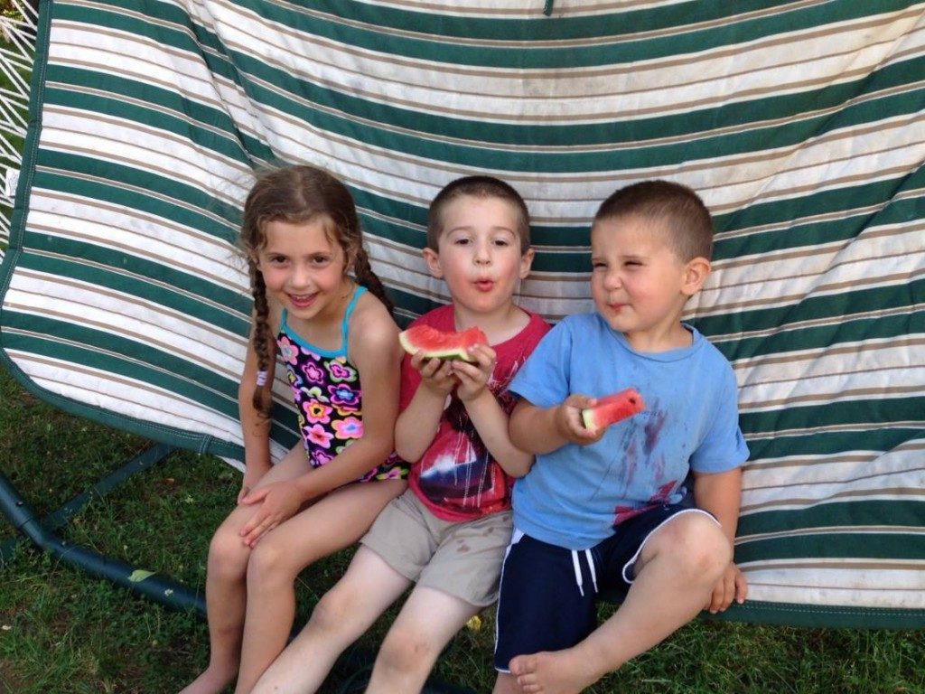 Eating watermelon in the hammock. The quintessence of summer.