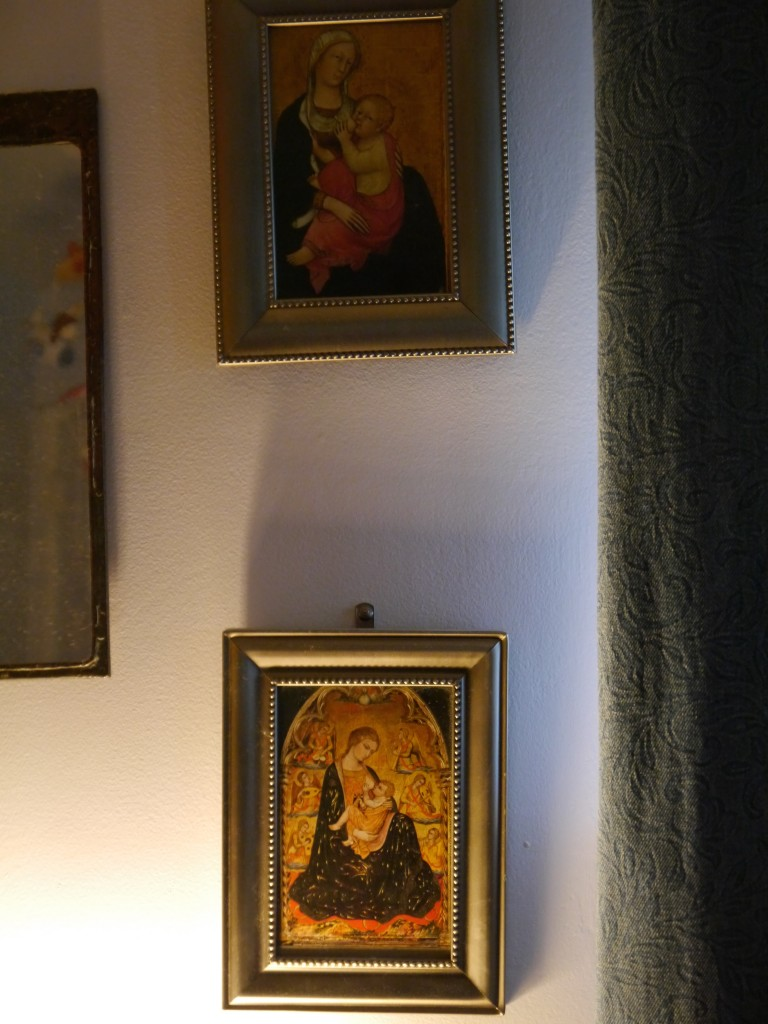 Next to my bed: two Madonnas nursing.