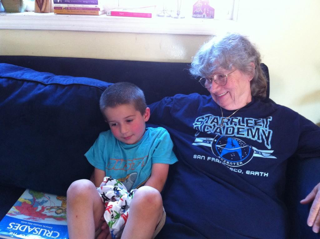 Ben with Grandma