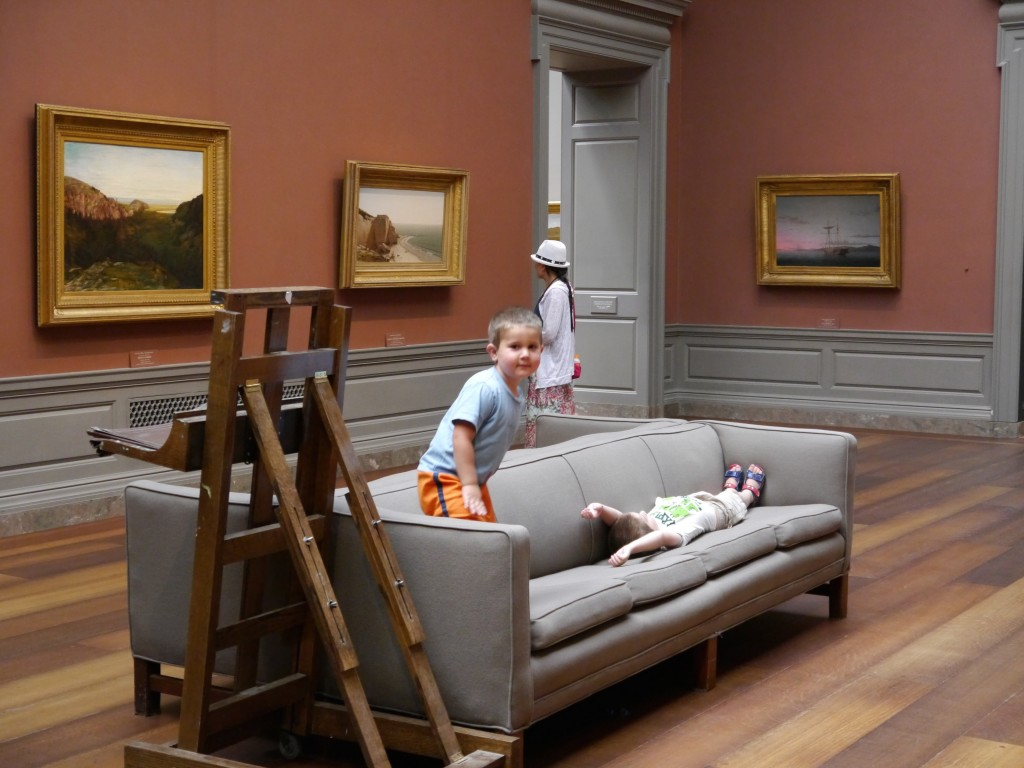 The comfy couches at the National Gallery of Art