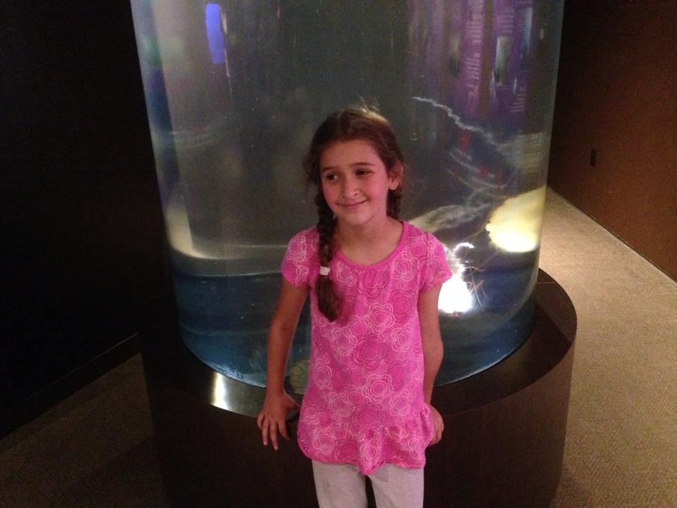 Bella with jellyfish