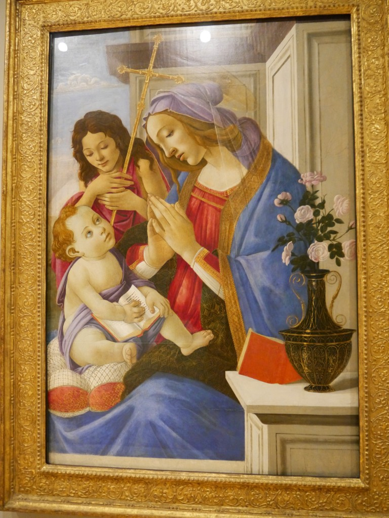 Botticelli's Virgin and Child and St. John the Baptist.