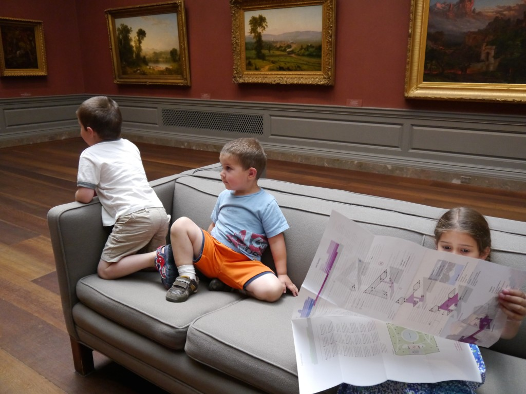 Relaxing in the National Gallery of Art