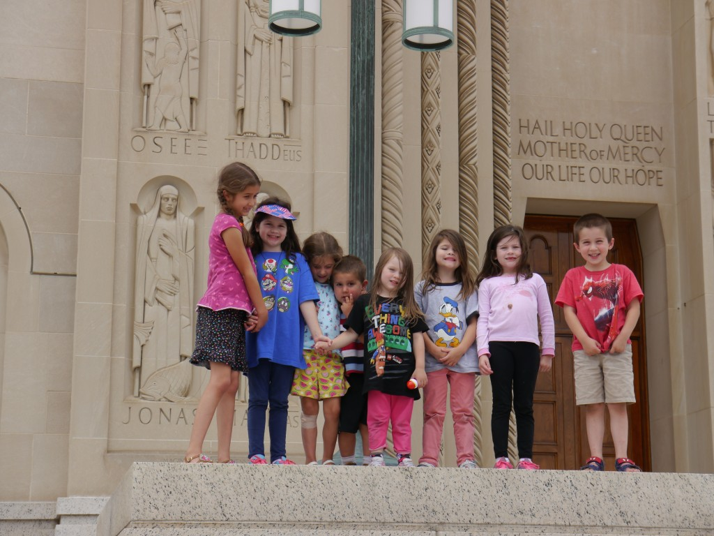 kids at national shrine