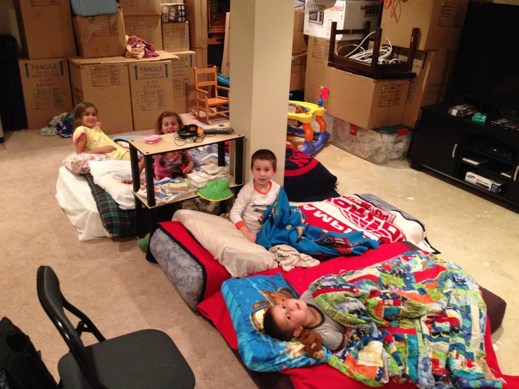 Camping out in grandma's basement