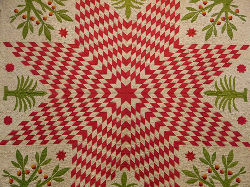 star with pomegranate trees quilt