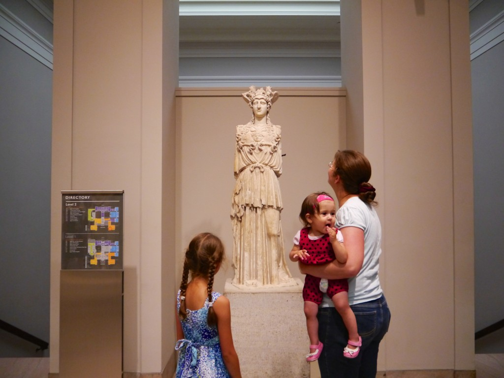 In the Roman statuary room. Bella correctly identified this as Athena