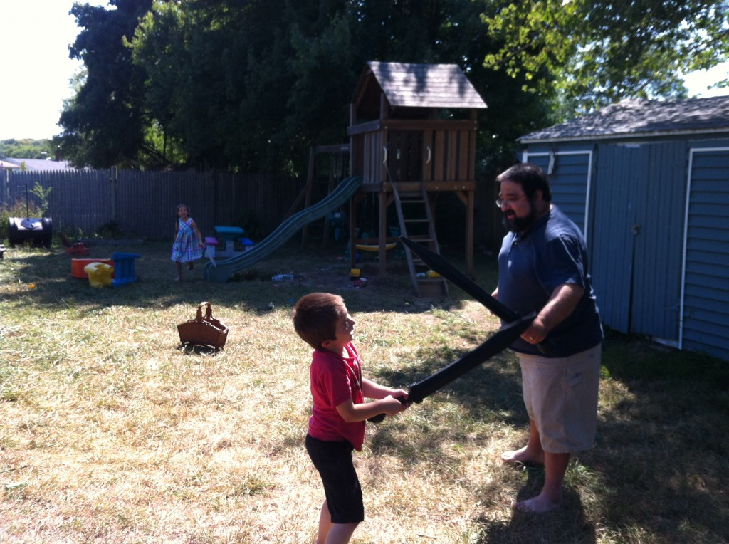 Swordfighting with Daddy