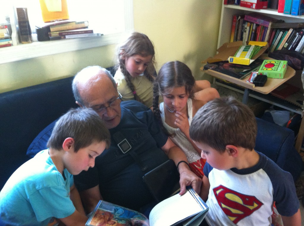 Reading The Tempest with Granddad.