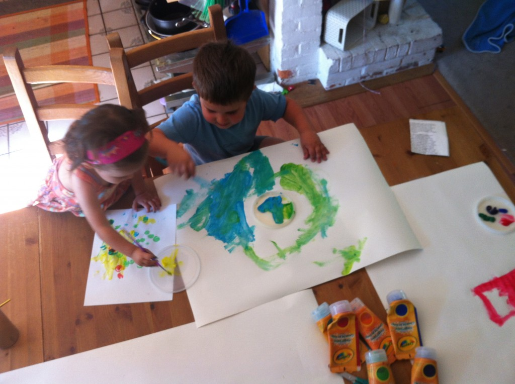 Lucy and Anthony paint