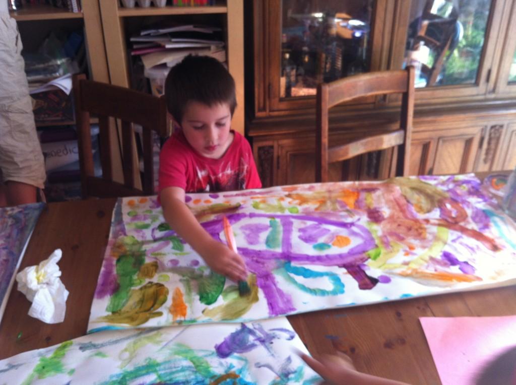 Ben paints broken trains