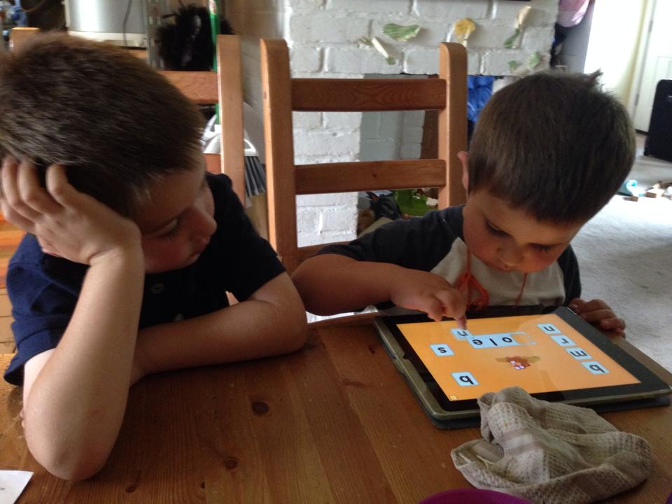 boys on iPad