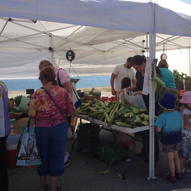 Farmer's market by the sea