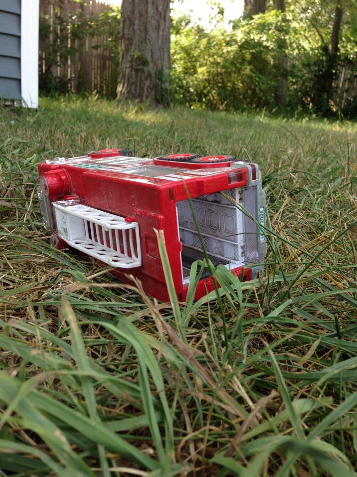 Firetruck in the grass