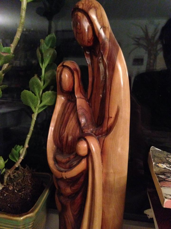 Holy family with plant