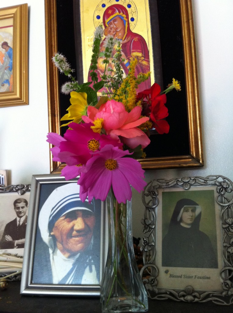 Bella's feast day bouquet