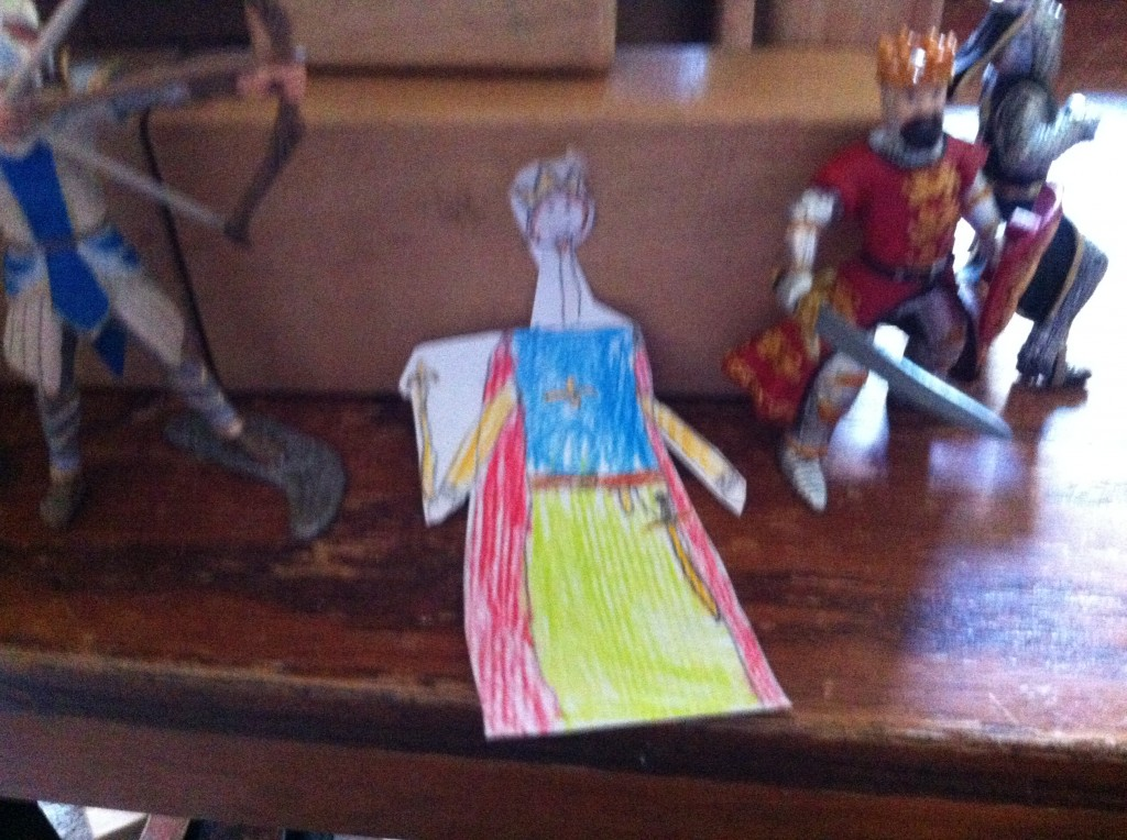Paper doll king by Bella, for Anthony.