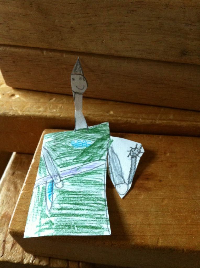 Paper doll knight by Bella, for Anthony.
