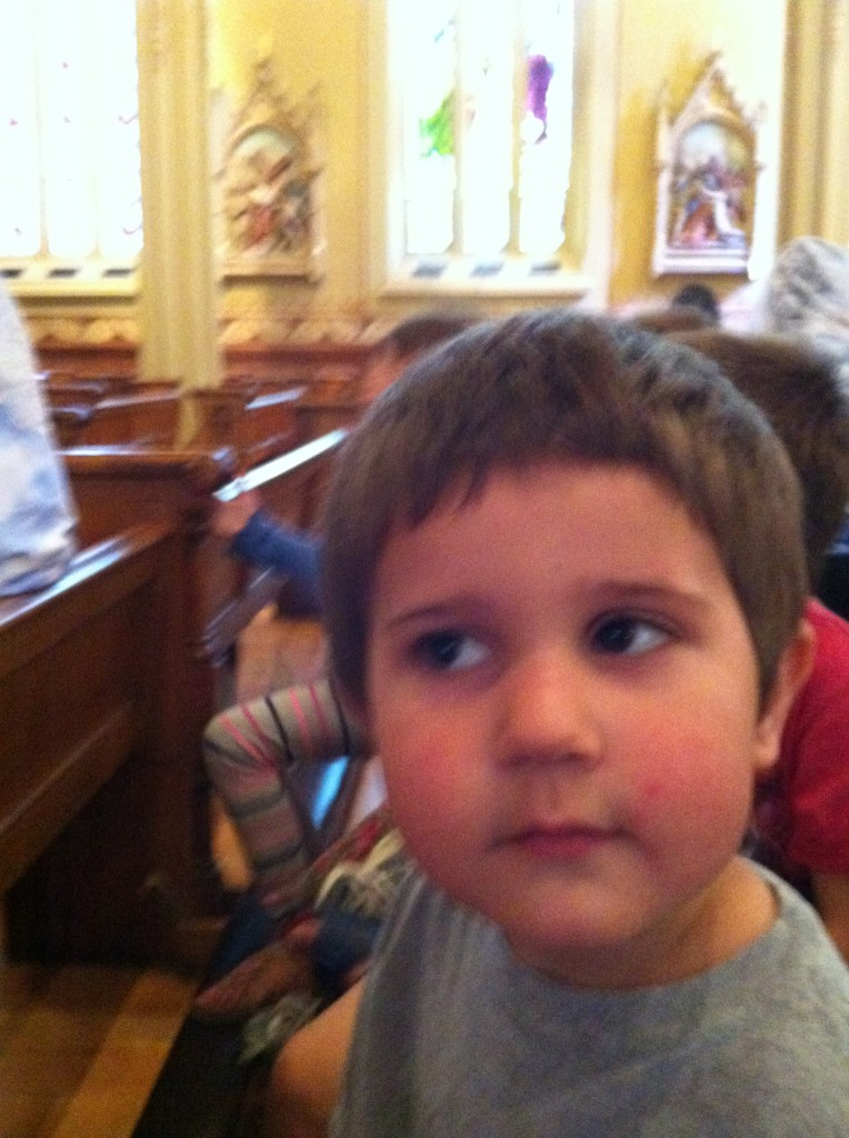 Anthony at homeschooling Mass