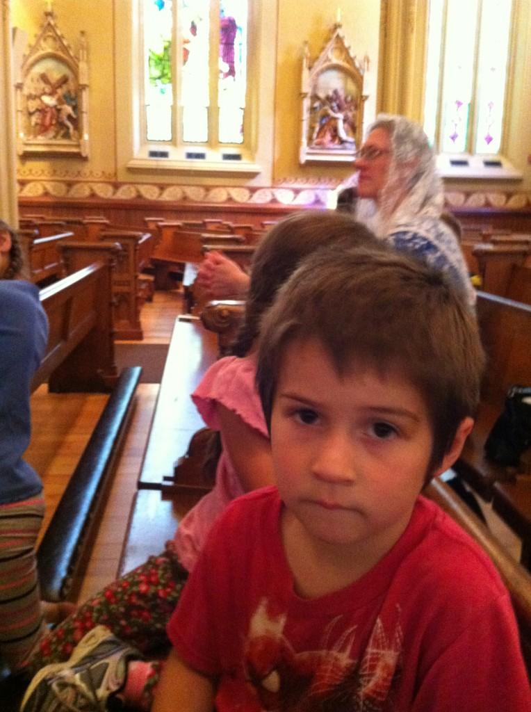 Ben at homeschooling Mass
