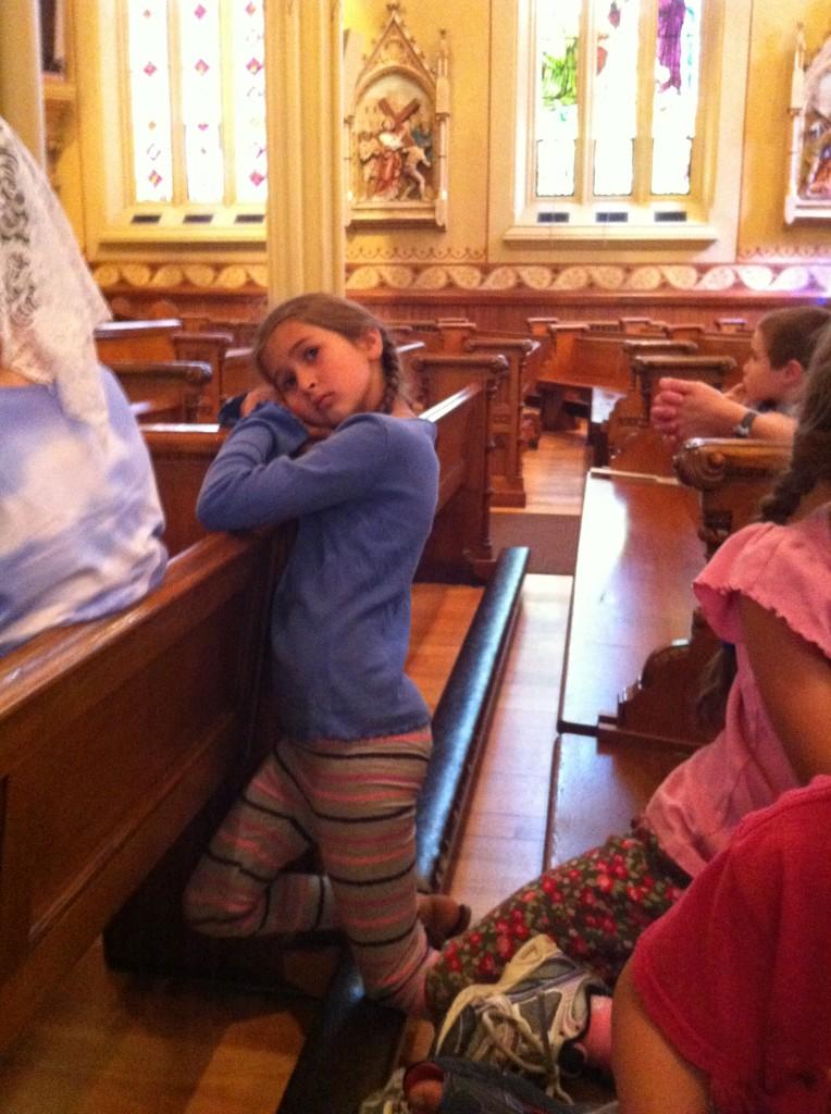 Bella at homeschooling Mass