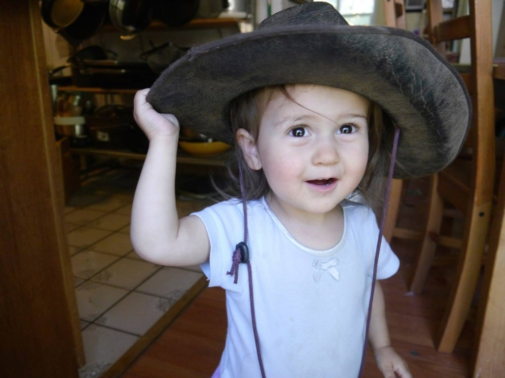 Lucy in a cowboy hat