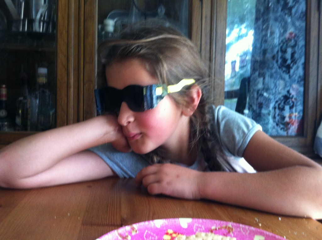 Even homeschoolers feel self-conscious about the dark glasses.