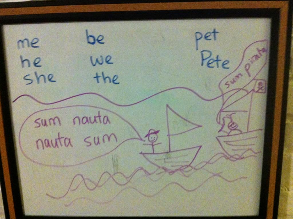 Latin lesson.