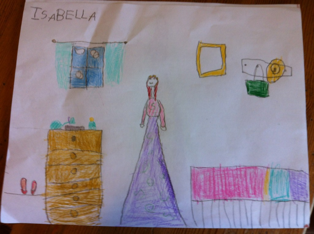 Bella's drawing.