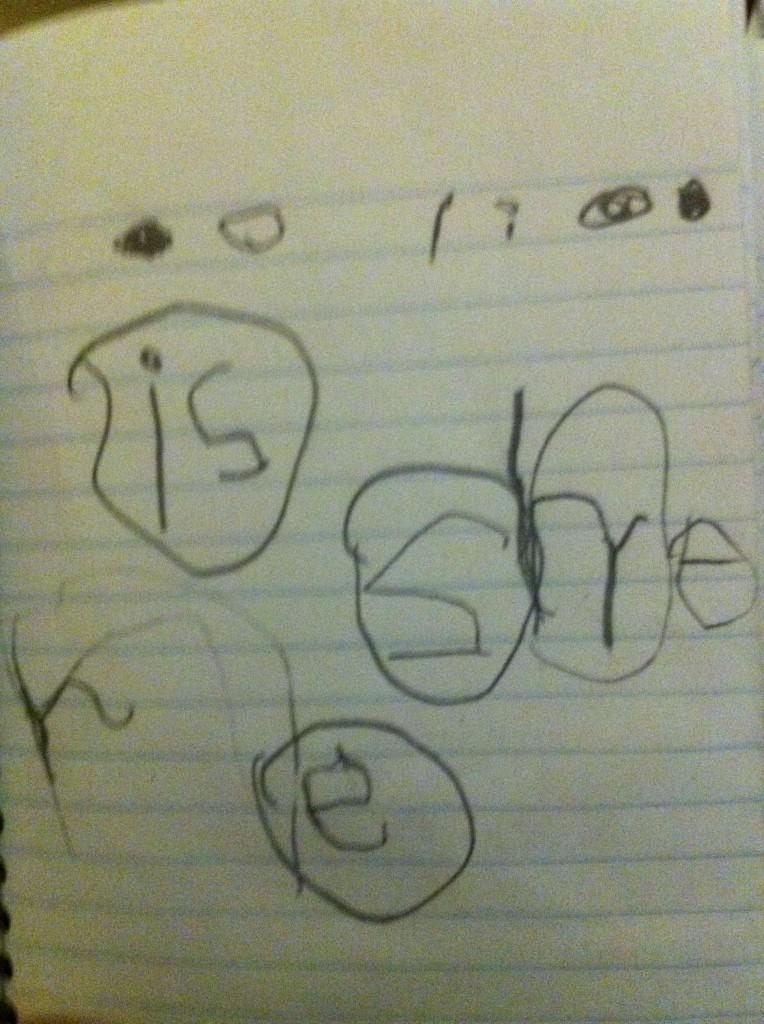Ben's word practice