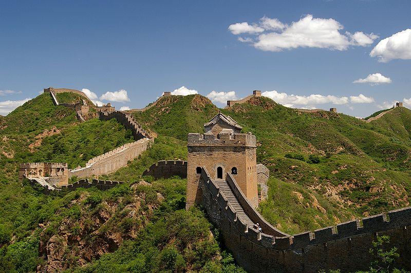 Great Wall of China near Jinshanling. Photo credit: Jakub Hałun via Wikimedia Commons.