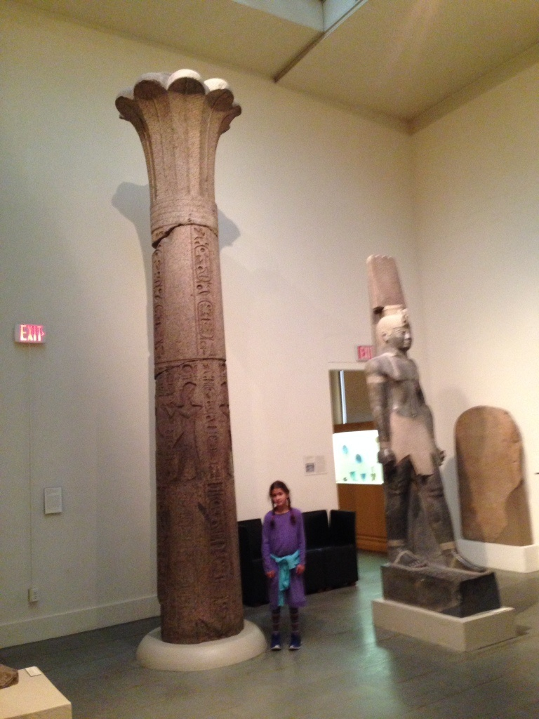 Nubian column and king
