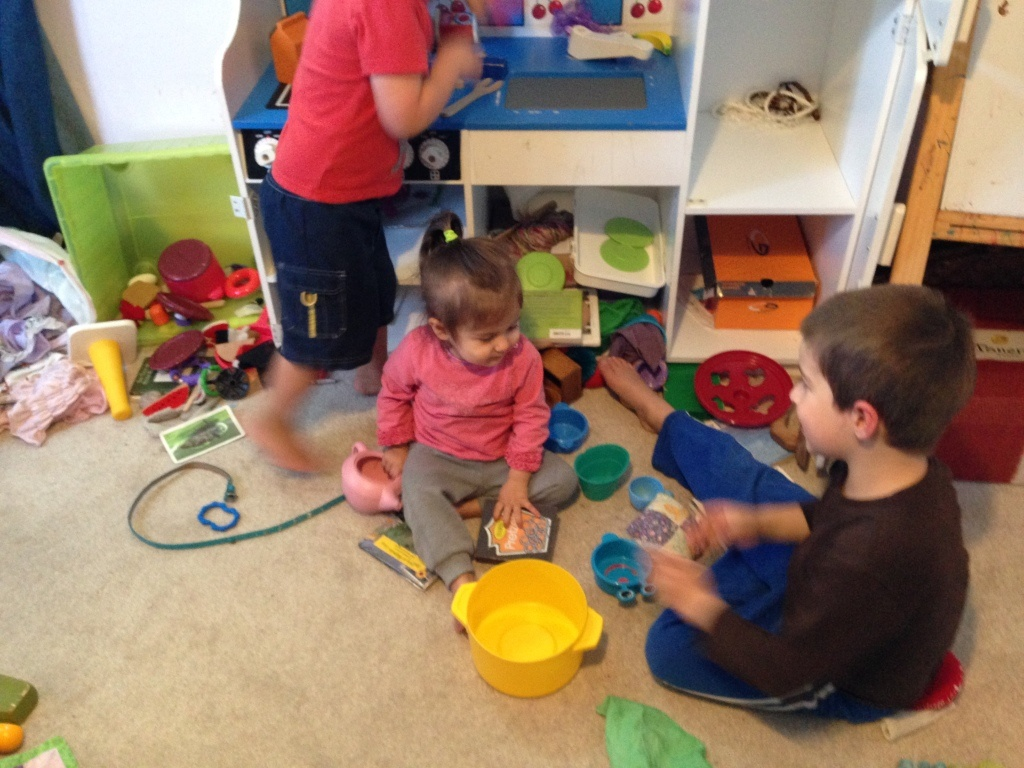 Lucy and Ben play house