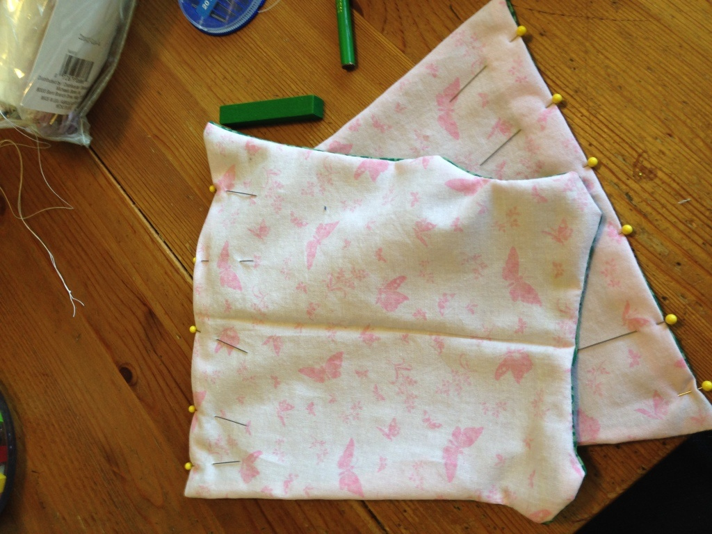 piecing the reversible dress