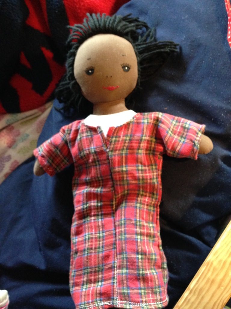 flannel nightgown on Bella's doll