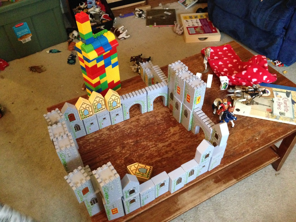 Ben's new castle blocks in action.